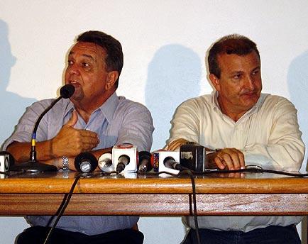 Roberto Rodrigues (à esquerda) e Dilvo Grolli, Show Rural Coopavel 2005, Show Rural Coopavel 2005