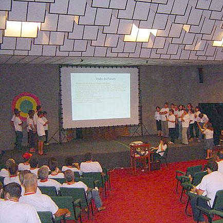 Apresentação final dos trabalhos por grupo, Dia de Granja Frango Seva, Dia de Granja Frango Seva