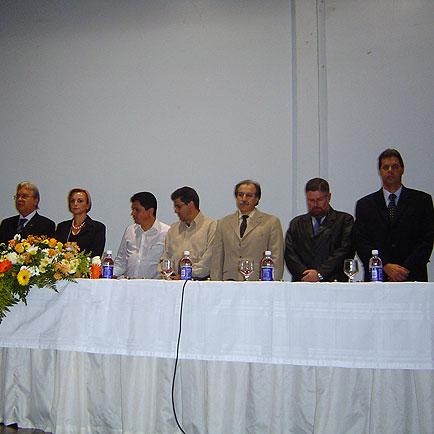 Mesa composta por autoridades, VI Seminário Brasil Sul 2005, VI Seminário Brasil Sul 2005