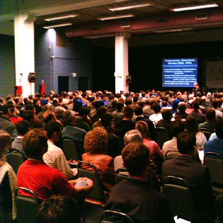 Público presente na palestra, Agromix, Agromix