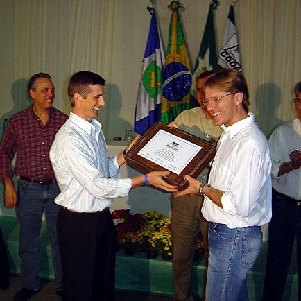 Entrega das homenagens aos cooperados, ExpoLucas, ExpoLucas