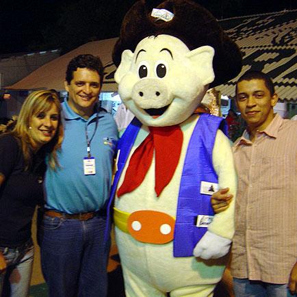 Luquinha com o pessoal da Vitagri, ExpoLucas, ExpoLucas