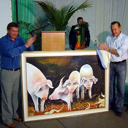 Otaviano Pivetta recebe quadro de homenagem, ExpoLucas, ExpoLucas