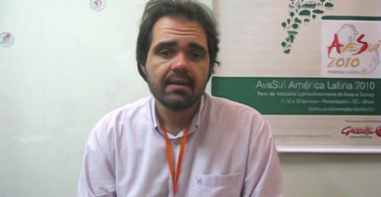 Julio Cesar Pascale Palhares, pesquisador da Embrapa Suínos e Aves