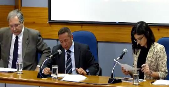 Alessandro Teixeira, secretário-executivo do MDIC e Tatiana Lacerda, secretária de Comércio Exterior
