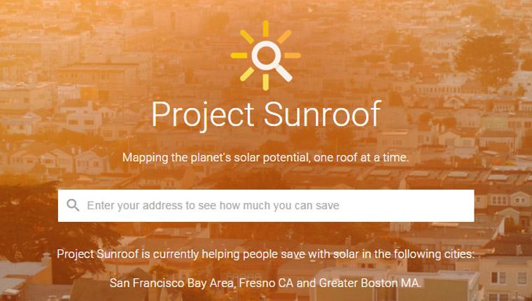 Google lança plataforma que mapeia a incidência de luz solar de cada região