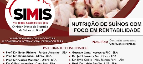 Simpósio Mineiro de Suinocultura discute Nutrição com Foco em Rentabilidade