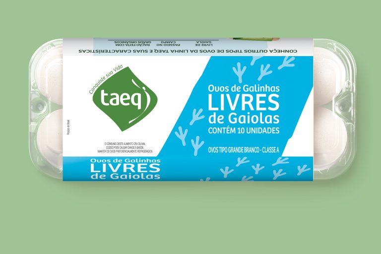 Taeq lança linha de ovos de galinhas livres de gaiola com preços mais acessíveis