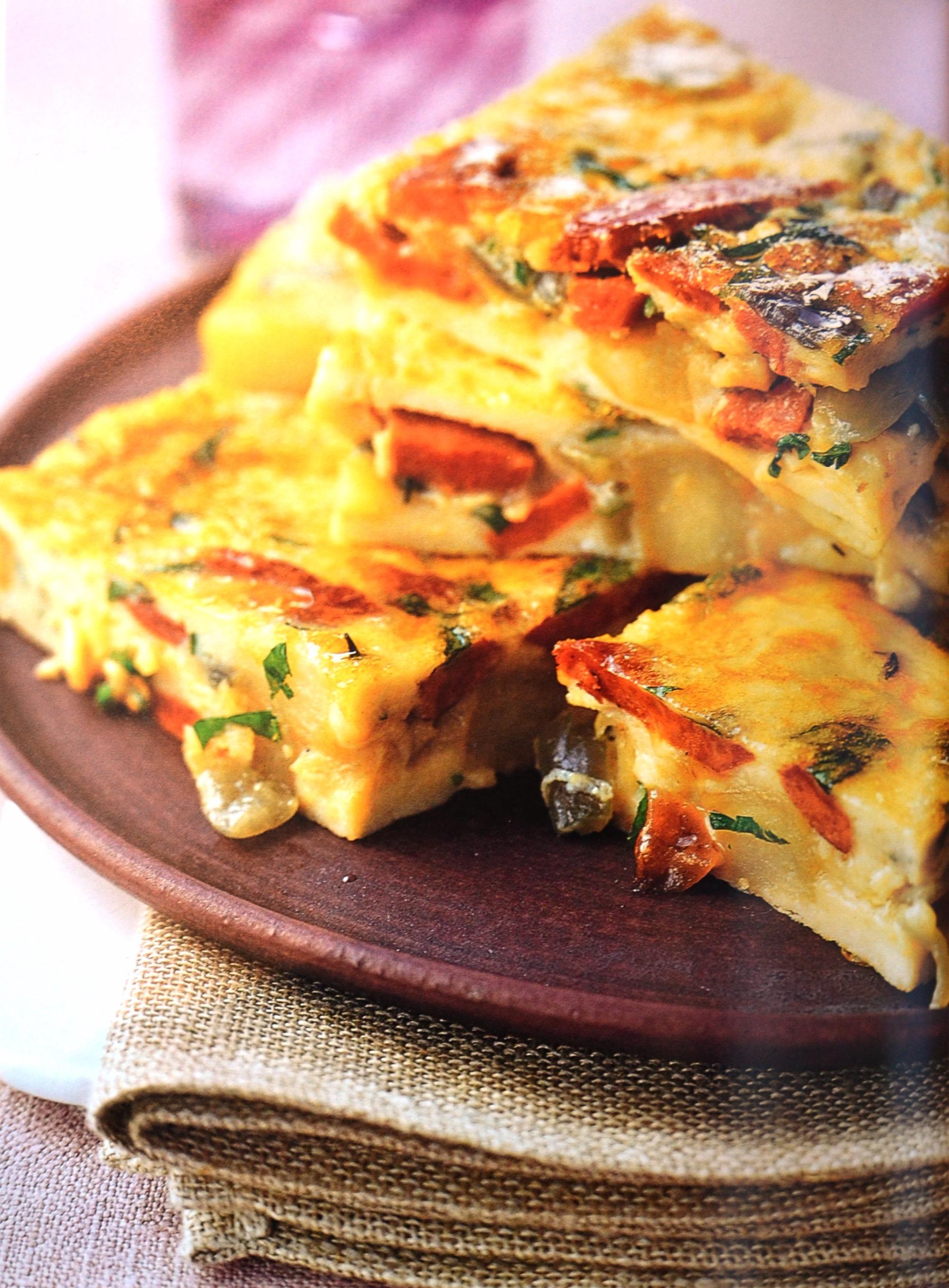 Tortilhas espanholas com linguiça picante