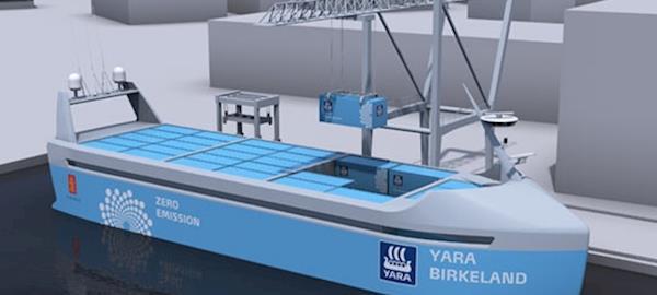 Primeiro navio 100% elétrico deve ser lançado em 2018