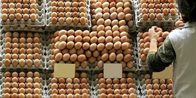 Preço médio dos ovos em fevereiro é o maior da série