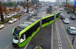 China inaugura primeiro transporte público rápido e elétrico sem motorista