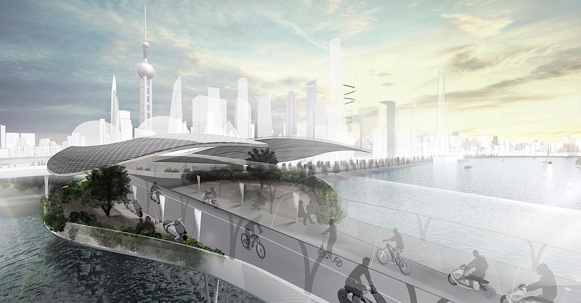 BMW propõe modelo de ciclovia elétrica e elevada para reduzir trânsito
