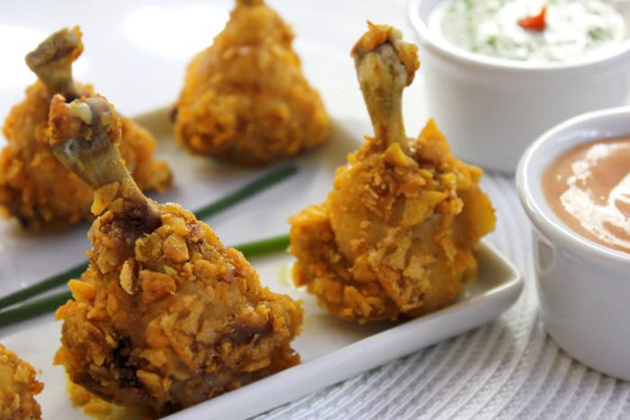 Coxinha de frango picante crocante