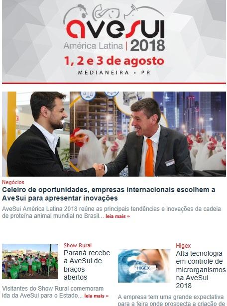 Assine o Boletim e receba notícias atualizadas da AveSui 2018