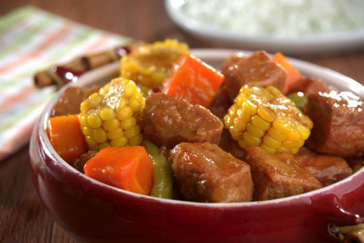 Cozido de lombo e milho