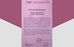 Brasil recebe na OIE certificado de livre da aftosa com vacinação