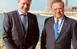 Vice-diretor da DLG e Blairo Maggi se encontram em Abu Dhabi