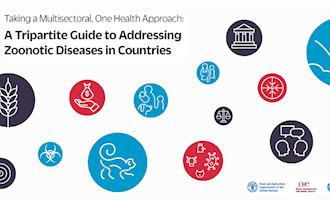 FAO, a OIE e a OMS lançam guia sobre a adoção de uma abordagem de saúde única para tratar doenças zoonóticas