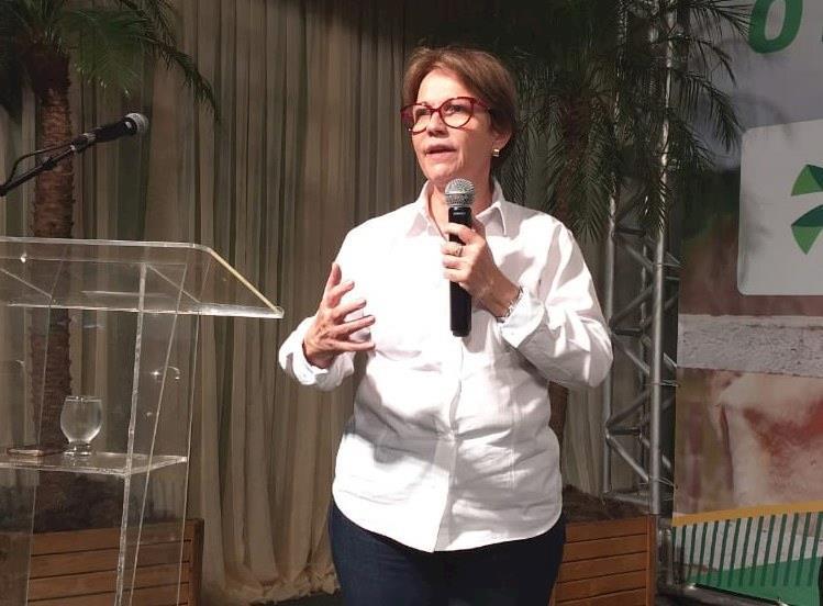 Tereza Cristina reclama da perda de margem de lucro dos produtores
