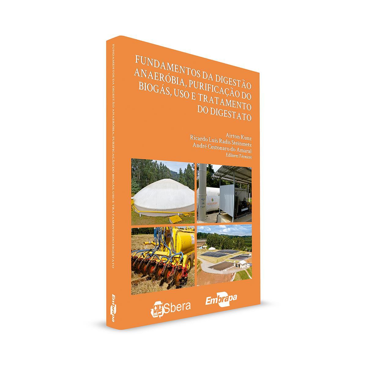 Embrapa lança livro sobre produção e purificação de biogás, uso agrícola e tratamento do digestato