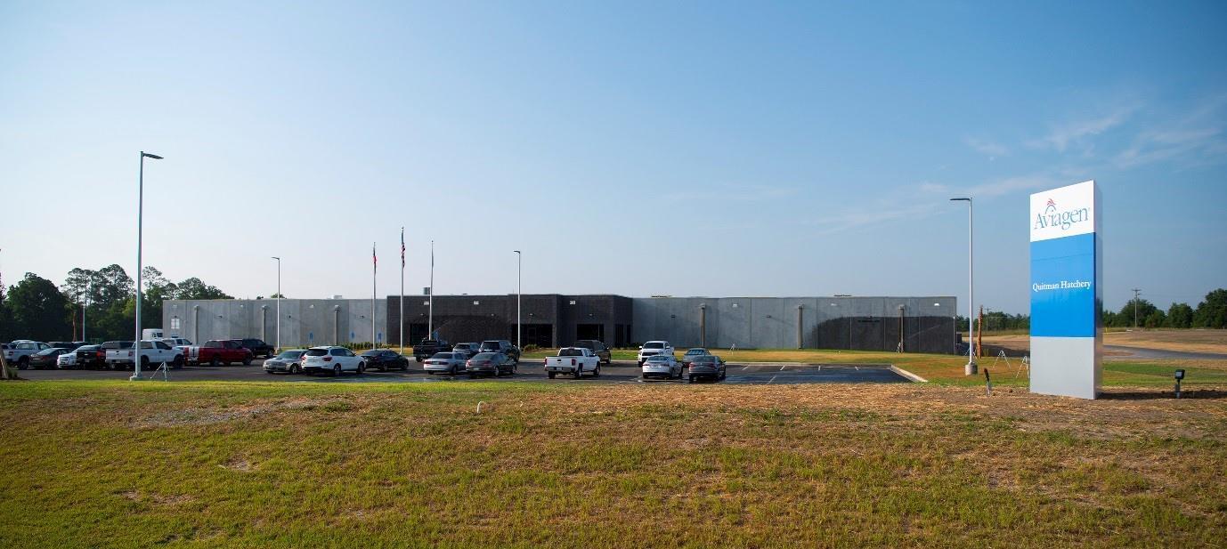 Aviagen inaugura seu 9º incubatório nos EUA