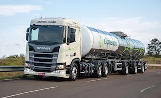Empresas comprovam viabilidade no custo do transporte do caminhão movido a GNV