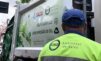 Cidade paulista tem 100% da coleta de lixo feita com caminhões elétricos