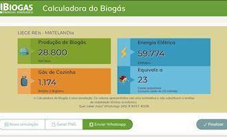 Conheça a calculadora de Biogás