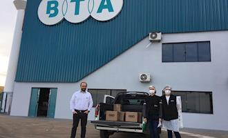 Entidades recebem doações da BTA para combate à Covid-19
