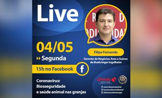 LIVE HOJE: Filipe Fernando, da Boehringer Ingelheim, fala sobre biosseguridade nas granjas