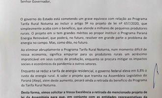 Entidades produtivas do Paraná pedem continuidade da Tarifa Rural Noturna
