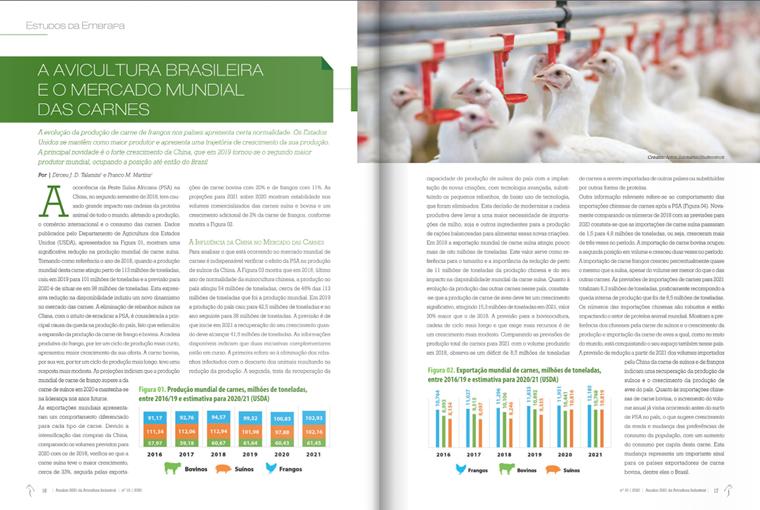 estudos embrapa, artigo, revista avicultura industrial,