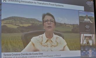 Inovação é única ferramenta capaz de aliar segurança alimentar e sustentabilidade, diz ministra