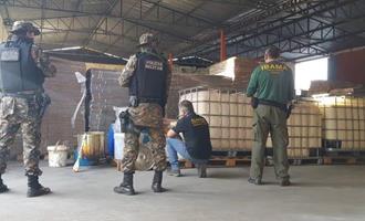 Força-tarefa fecha fábrica clandestina de agrotóxico em Goiás