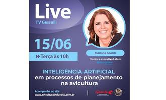 Live hoje sobre Inteligência Artificial em processos de planejamento na avicultura na TV Gessulli
