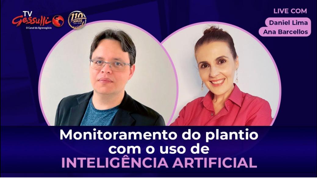 Live sobre Inteligência Artificial no monitoramento do plantio