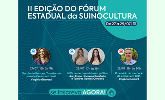 ASEMG, ASSUVAP e ASTAP realizam o 2° Fórum Estadual da Suinocultura
